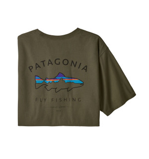 Patagonia M's Framed Fitz Roy Trout Organic Cotton T-Shirt, basin green
