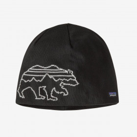 Patagonia Beanie Hat, Fitz Bear Knit Black