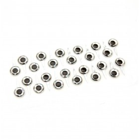 Silver Tab Eyes, 10 mm 24 pcs.