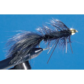 Cone Head Wooly Bugger, black