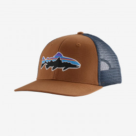 Patagonia Fitz Roy Trout Trucker Hat, earthworm brown