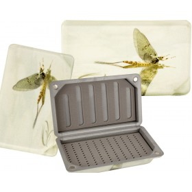 TRAUN RIVER Fly Box with a Mayfly Look, small
