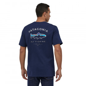Patagonia M's Framed Fitz Roy Trout Organic Cotton T-Shirt, classic navy