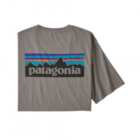 Patagonia M's P6 Logo Organic T-Shirt, feather grey