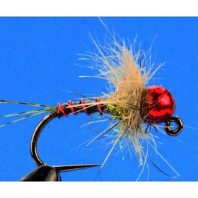 Red Tungsten Jig, hare´s ear