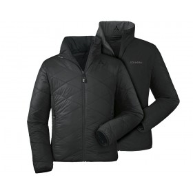 Kyle Functional Quilted Reversible Jacket, black