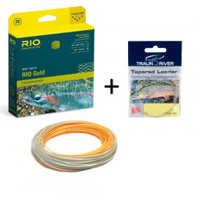 RIO Gold melon/grey* Fly Line & FREE Leader