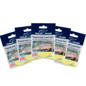 5 Pack TRAUN RIVER Tapered Leaders 7,9 ft.