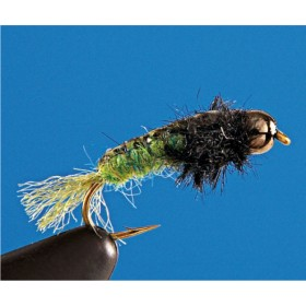 Tungsten Uncased Caddis, green