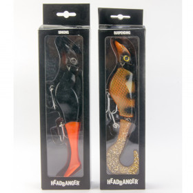 2-pack Headbanger 22 cm (rusty perch & black orange)