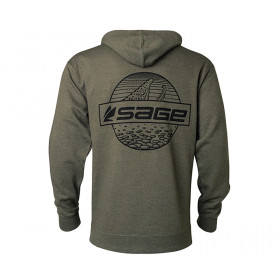 SAGE Rising Trout Zip Hoody