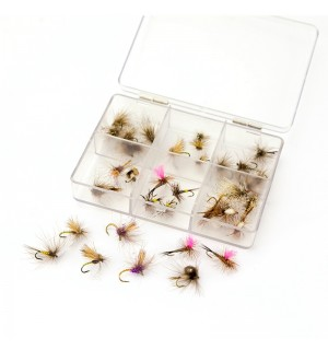 TRAUN RIVER Classic Dry Fly Set (36 flies)