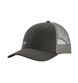 Patagonia Small Fitz Roy Fish LoPro Trucker Hat, forge grey w/Tarpon