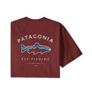 Patagonia M's Framed Fitz Roy Trout Responsibili-Tee, oxide red