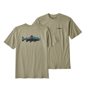 Patagonia M´s Fitz Roy Trout Responsibili-Tee, weathered stone