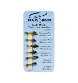 TRAUN RIVER Black Magic Tungsten Nymph Set