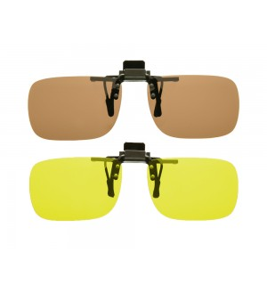 Cocoons Flip-Up Polarized Clip-On Rectangle