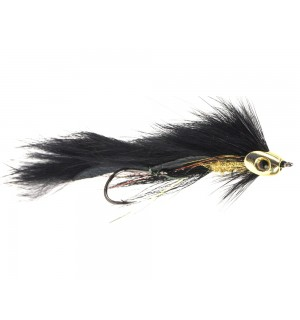 Fish Head Zonker Trailer, black/gold