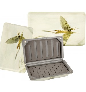 TRAUN RIVER Fly Box with a Mayfly Look, large