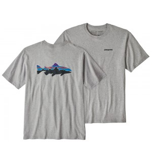 Patagonia M's Fitz Roy Trout Responsibili Tee, drifter grey