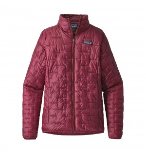 Patagonia Womens Micro Puff Jacket, arrow red