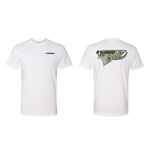 SAGE Dripping Fish Tee Trout, white