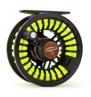 TRAUN RIVER SOLID 5/7 Fly Reel, black/coffee
