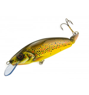 Handmade SUPER-WOBLER, brown trout