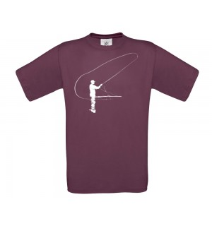 TRAUN RIVER T-Shirt Caster, burgundy