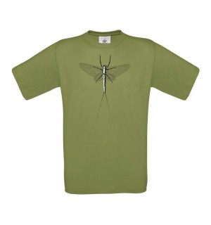 TRAUN RIVER T-Shirt Mayfly Spent, moos green
