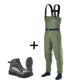 Wader Combo Bronze: Stream Waders & River Grip Boots